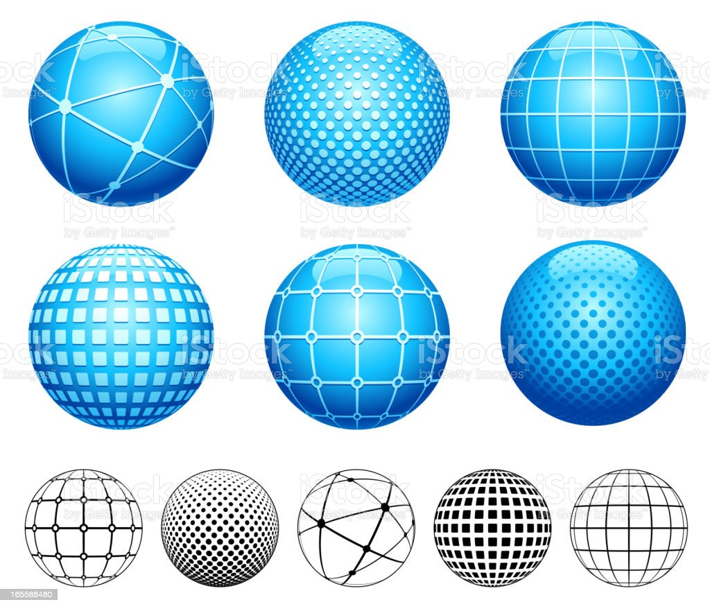 Spheres royalty-free spheres stock vector art & more images of blue