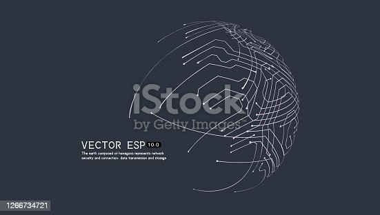 Vector illustration, representing network data technology, data transmission and connection