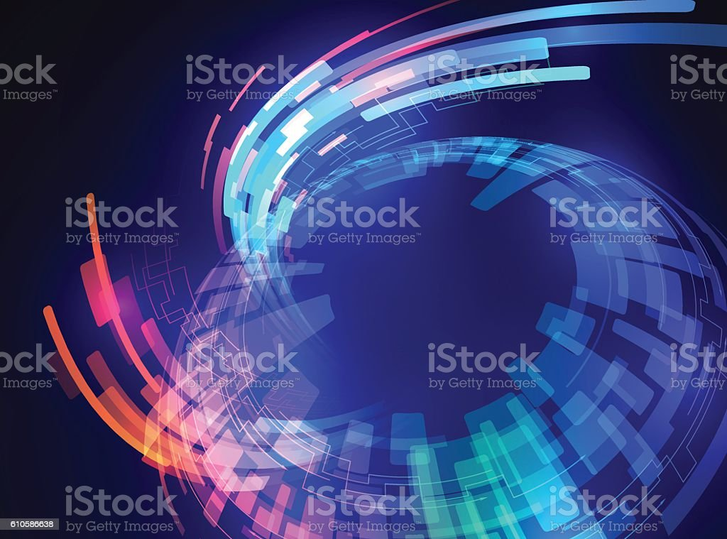 spherical surface, and ray of light, abstract image vector art illustration