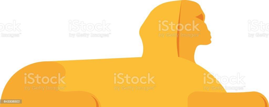 Sphinx head vector illustration. vector art illustration