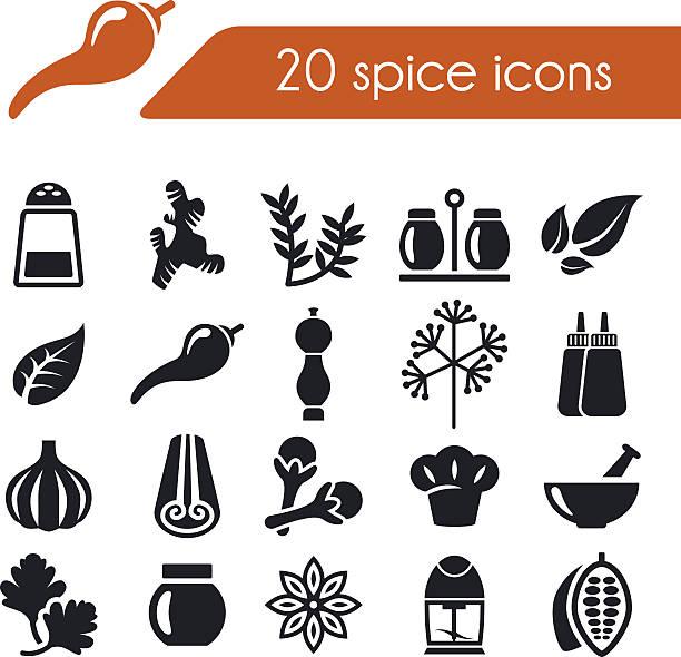 spice icons vector art illustration