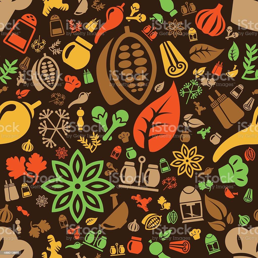 spice patrón sin costuras - ilustración de arte vectorial