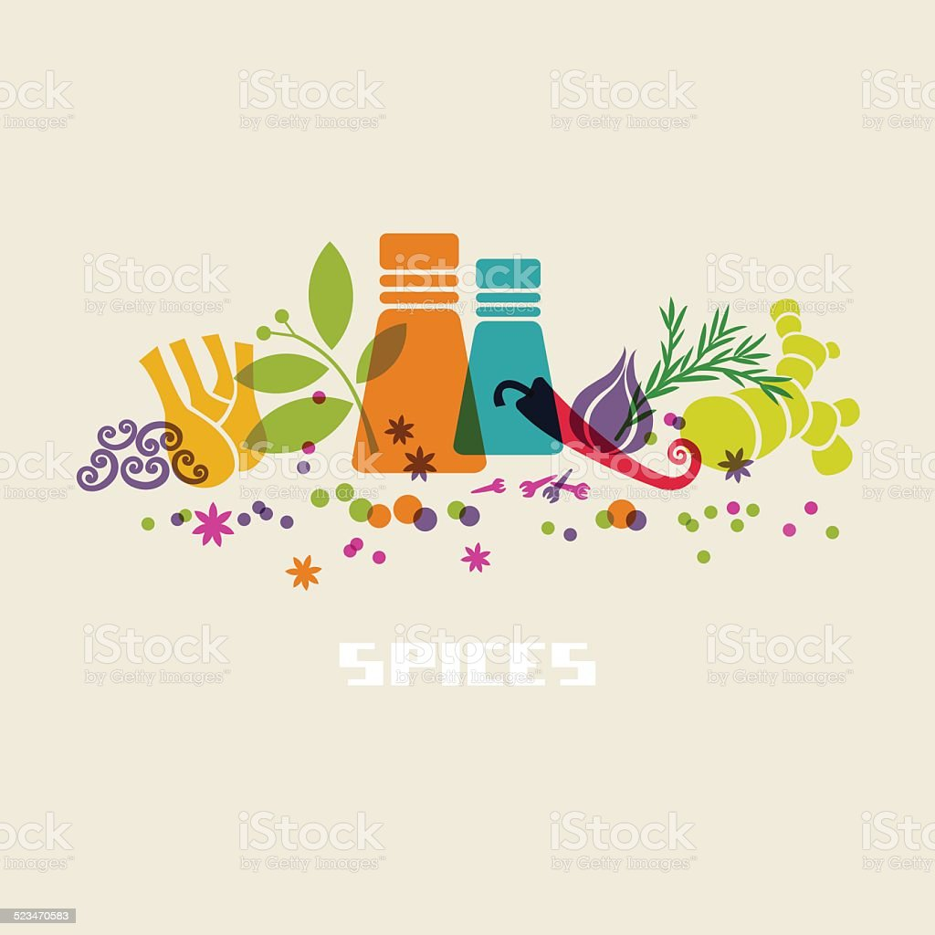 Spices, herbs icon. Food sign vector art illustration
