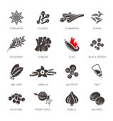 Spices icon vector set, collection set