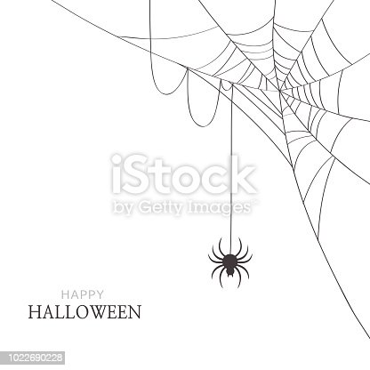 Halloween,holiday,spider,web,cobweb,black,white,greeting,card,decoration,design,illustration