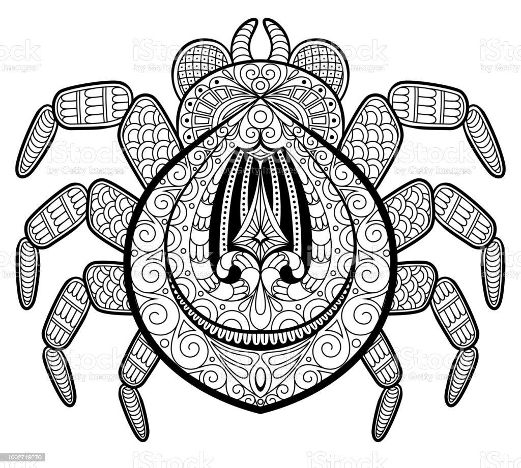 Araignée En Zentangle Style De Tatouage Imprimer Ou Tshirt