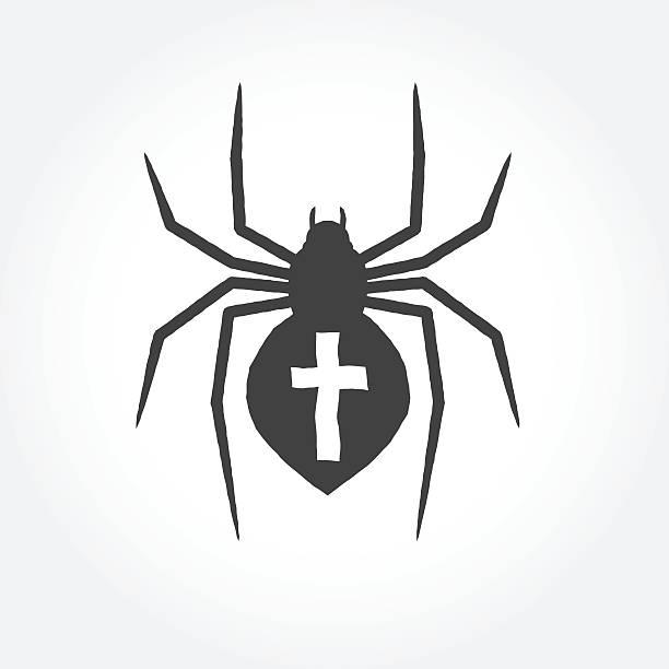 Best Black Widow Spider Tattoo Designs Illustrations