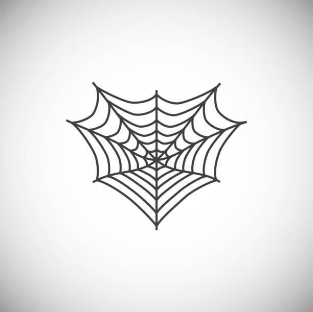 spider related icon on background for graphic and web design. simple illustration. internet concept symbol for website button or mobile app. - tarantula stock illustrations