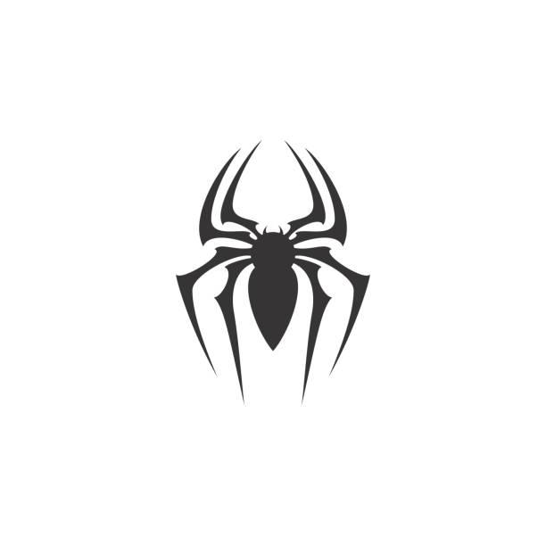 spider symbol design inspiration - tarantula stock illustrations