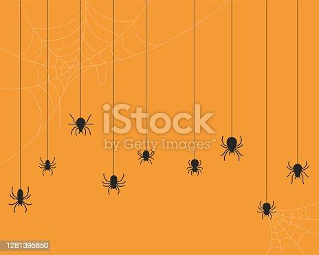 istock Spider vector background 1281395850