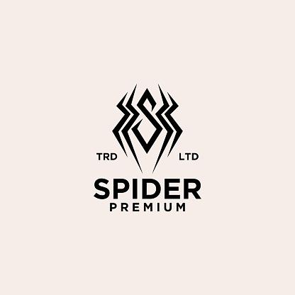spider vintage  icon illustration Premium Vector