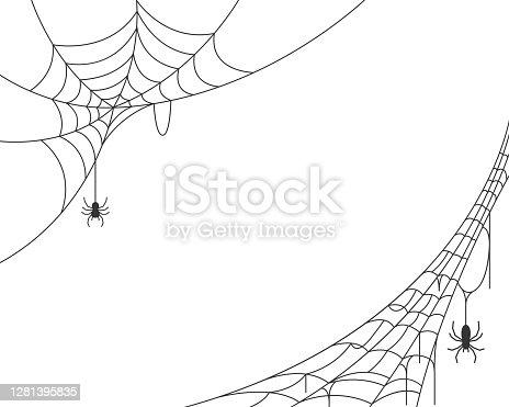 istock Spider web background 1281395835