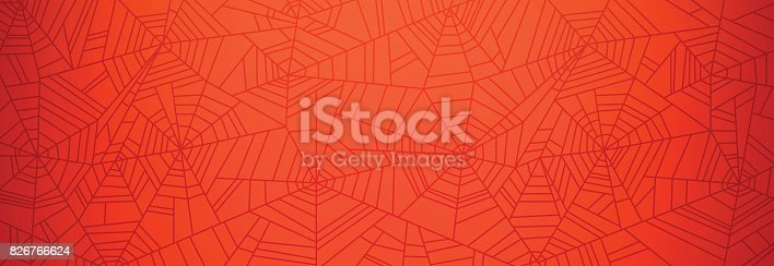 Abstract spider web background banner.