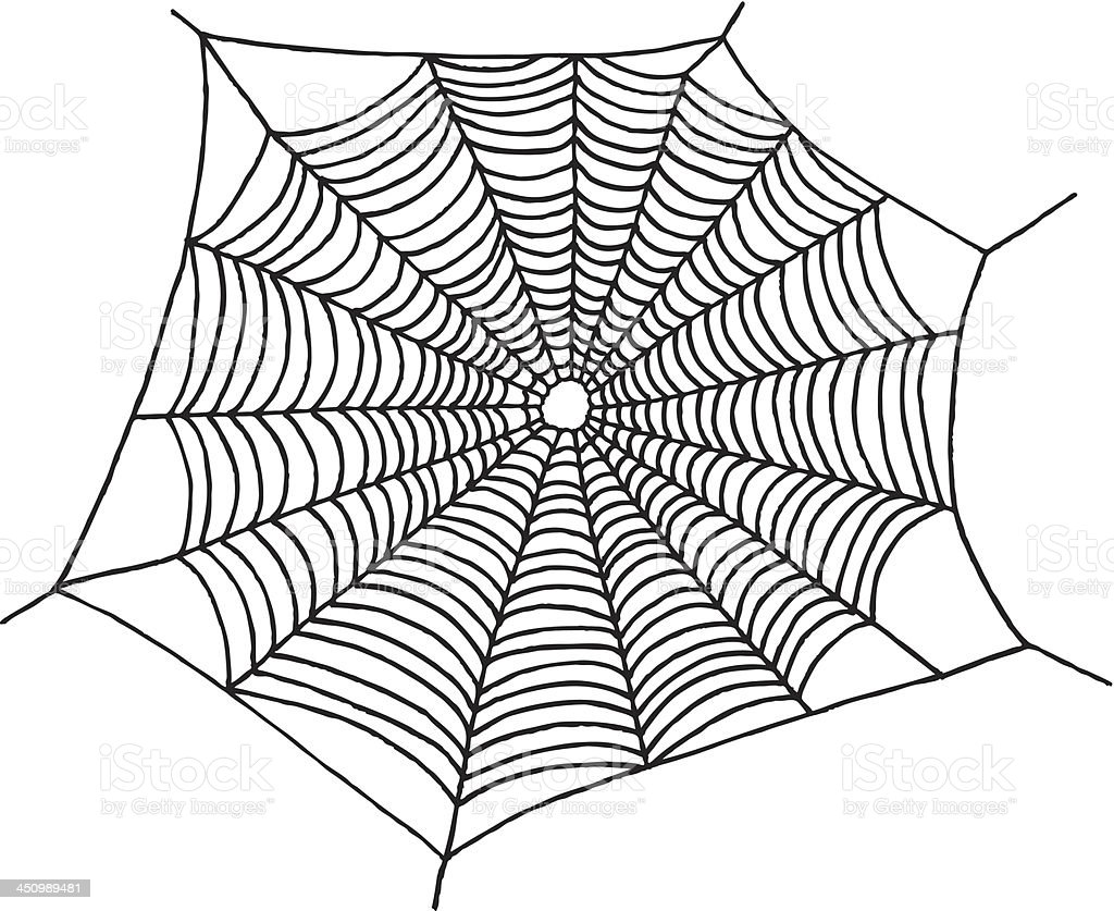 Spider Web Drawing Stock Vector Art & More Images of Animal Markings ...