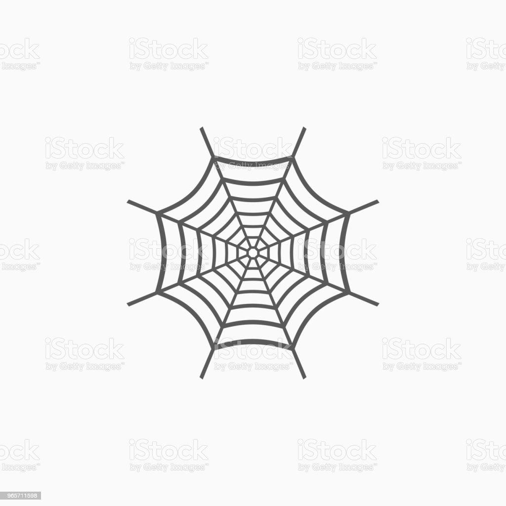 spider web icon - Векторная графика Векторная графика роялти-фри