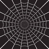 istock Spider web or cobweb. Halloween net background. Vector illustration. 1174455168