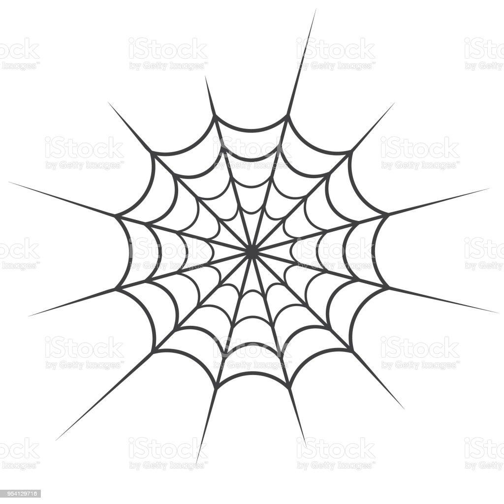 Ilustración de Araña Web Vector Icono Filamentos Largos Tela De ...