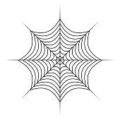 spider web vector symbol icon design. Beautiful illustration isolated on white background