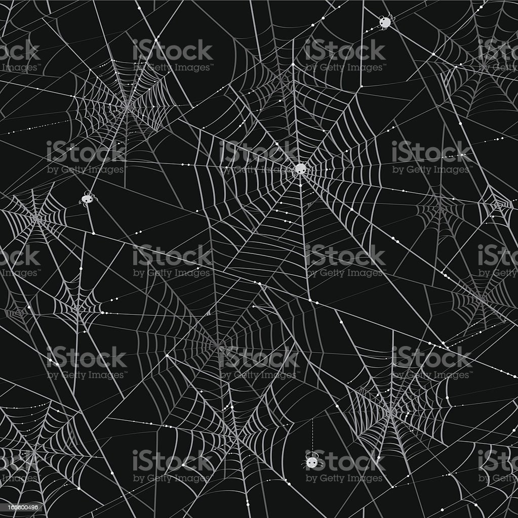 Spider Webs - Tileable Background royalty-free spider webs tileable background stock vector art & more images of animal