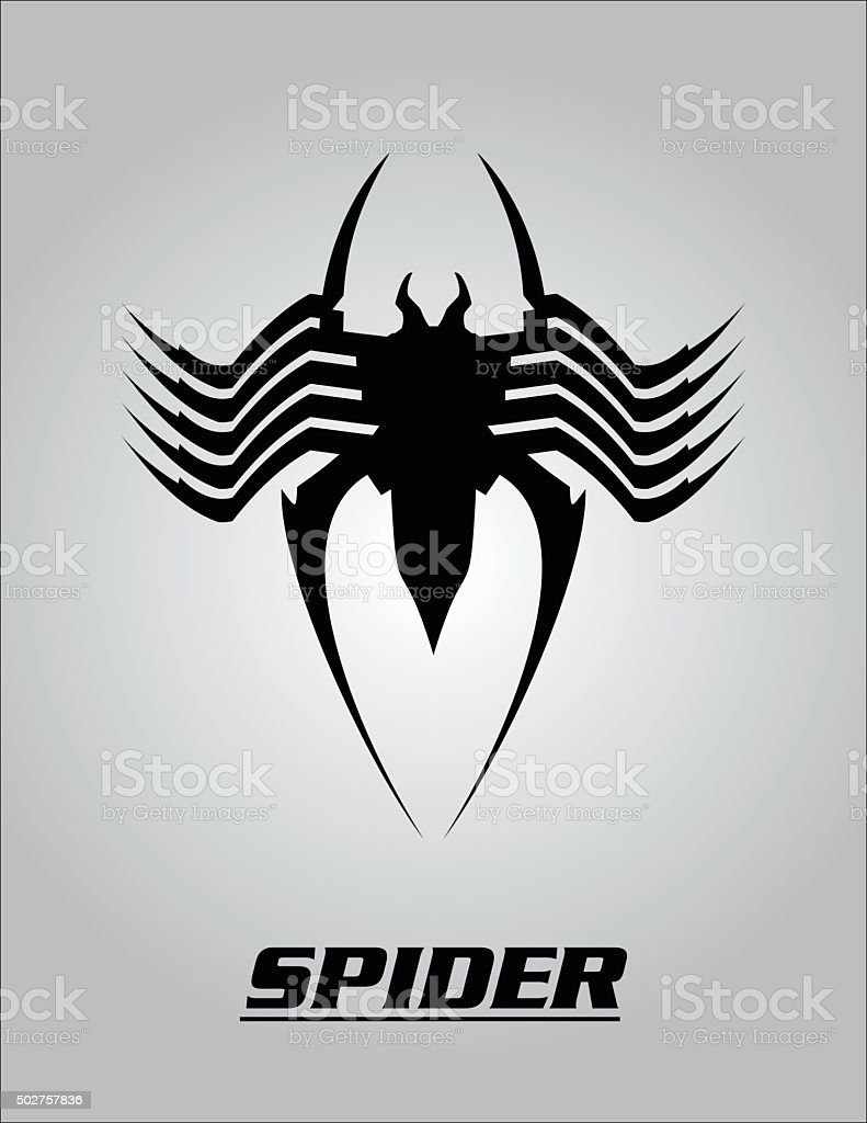 Spiderblack Spider Computer Virus Bug Stock Vector Art & More Images ...