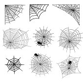 halloween background with faux cobwebs.