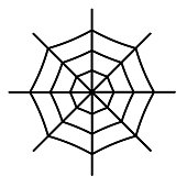 Spiderweb icon isolated on white background. . Vector illustration