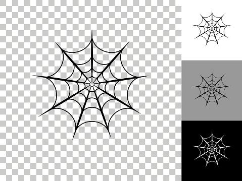 Spiderweb Icon on Checkerboard Transparent Background