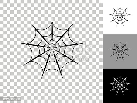istock Spiderweb Icon on Checkerboard Transparent Background 1225387633