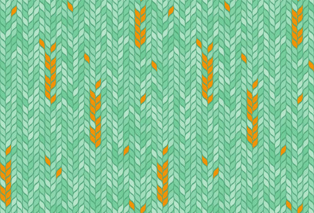 fırıncılık mozaik dikişsiz desen - buğday stock illustrations