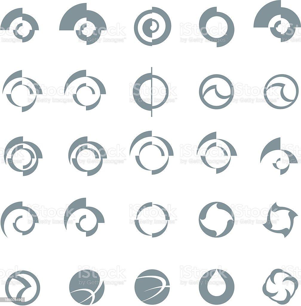 spin elements vector art illustration