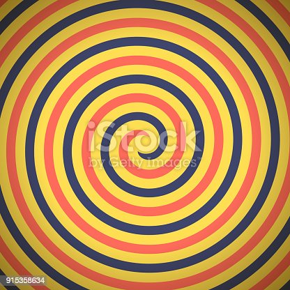 Spiral hypnosis background.