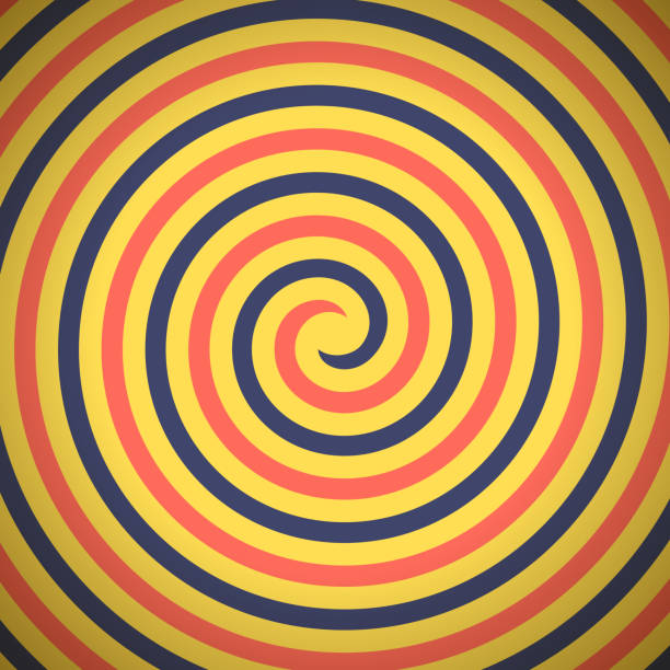 spin hypnosis - spiral stock illustrations