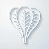 istock Spinach. Icon with paper cut effect on blank background 1316086904