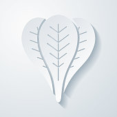 istock Spinach. Icon with paper cut effect on blank background 1317130675