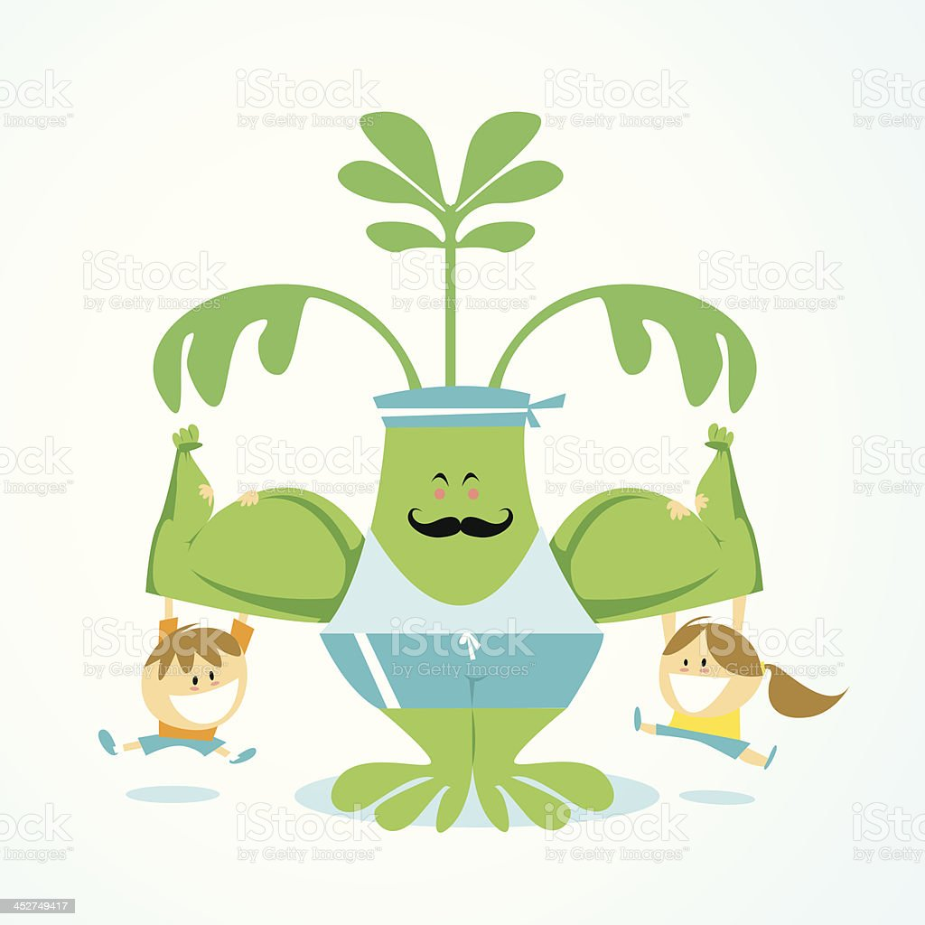 Spinach is healthy ISKawaii13 royalty-free stock vector art