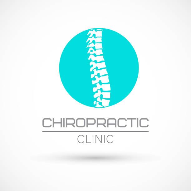 wirbelsäule-chiropraktik-logo - chiropraktiker stock-grafiken, -clipart, -cartoons und -symbole