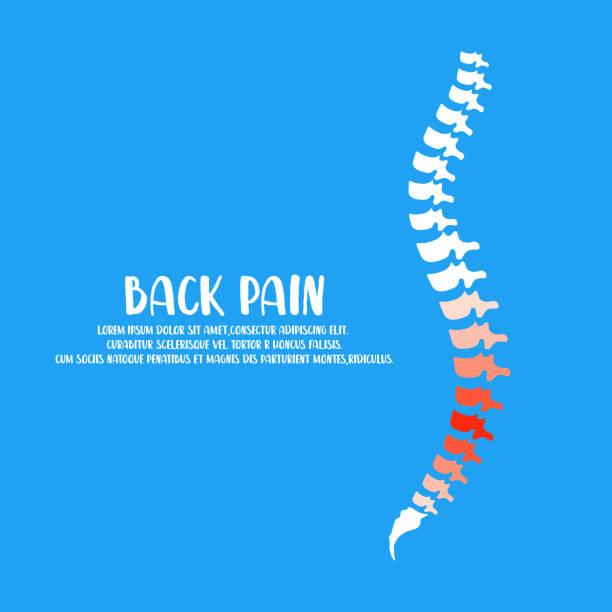 Spine Diagnostics Symbol Design. Spine Pain Illustration. Spine Diagnostics Symbol Design. Spine Pain Illustration. Vector. backache stock illustrations