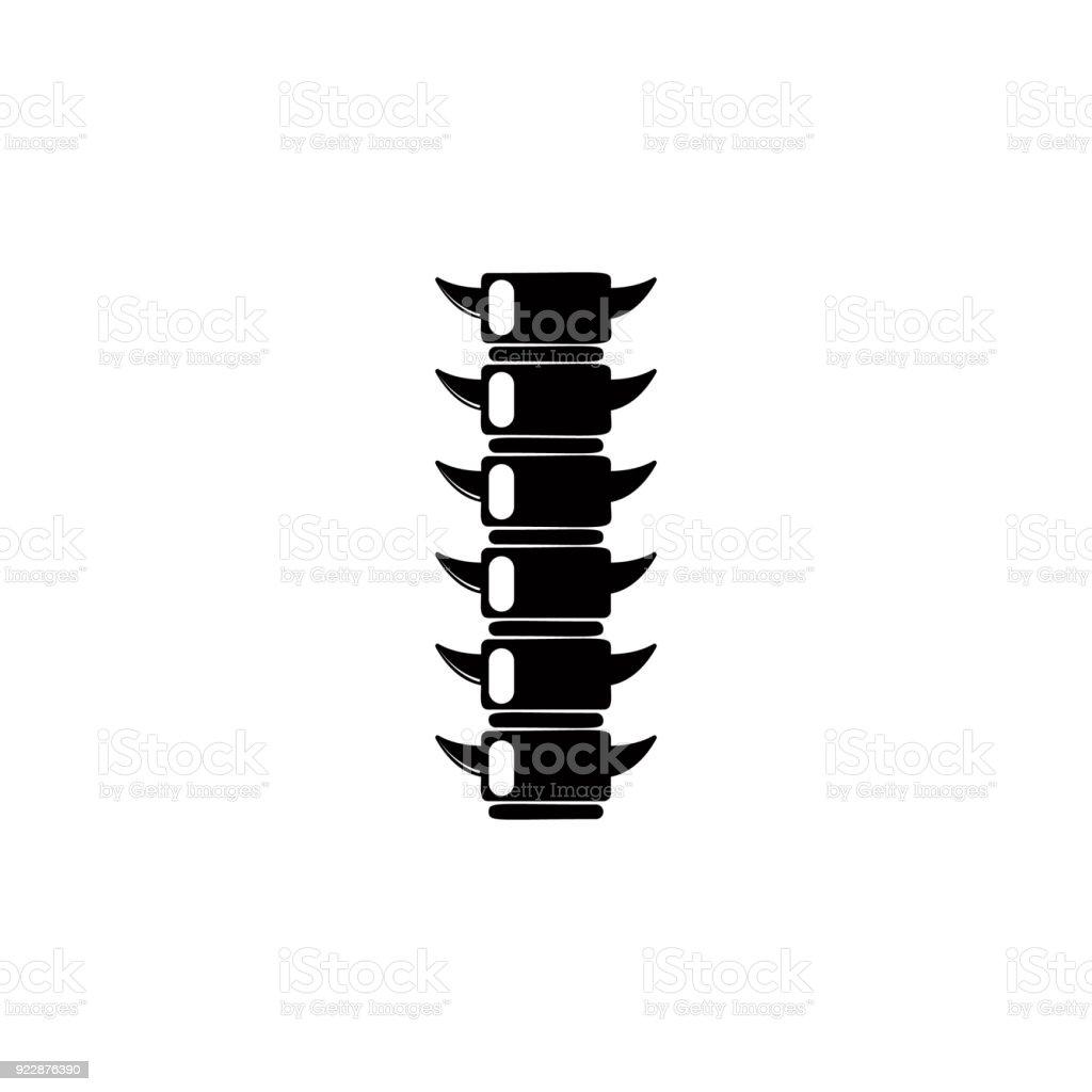 Ilustración de Icono De La Columna Vertebral Icono De Detallada De ...
