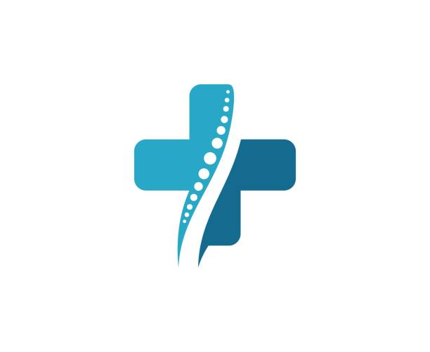 illustrations, cliparts, dessins animés et icônes de icône de la colonne vertébrale - chiropracteur