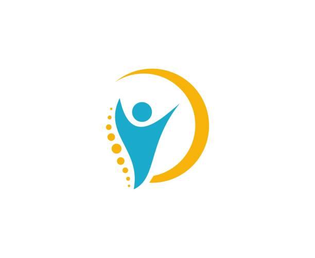 Wirbelsäule Ikone – Vektorgrafik