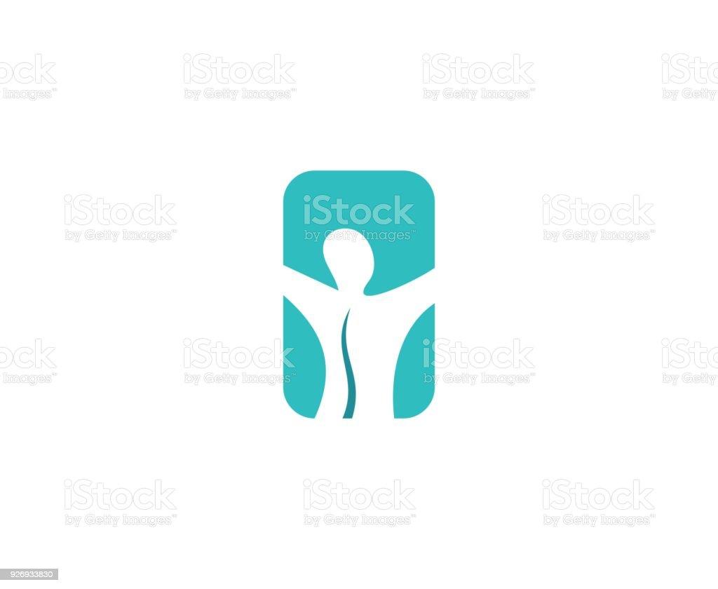 Icône de la colonne vertébrale - Illustration vectorielle
