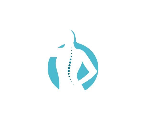 wirbelsäule-symbol - chiropraktiker stock-grafiken, -clipart, -cartoons und -symbole