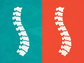 Human spine chiropractic back pain concept. EPS 10 file. Transparency effects used on highlight elements.