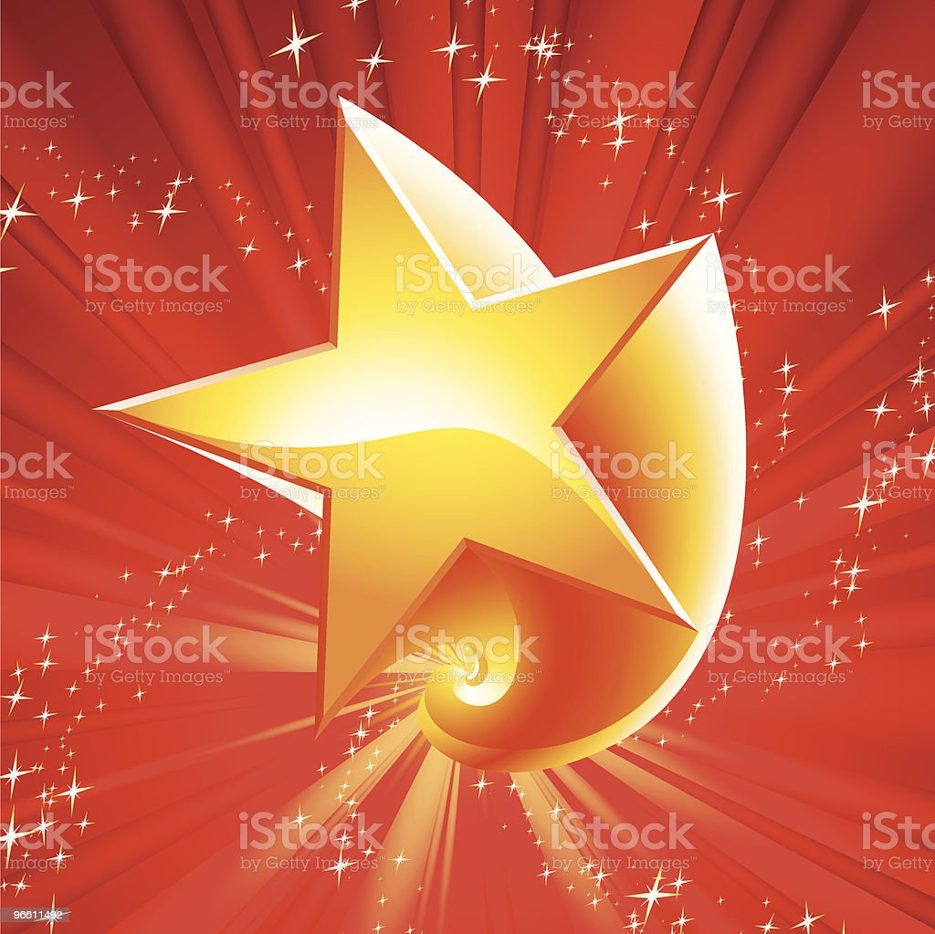 spinning star - Royalty-free Backgrounds stock vector