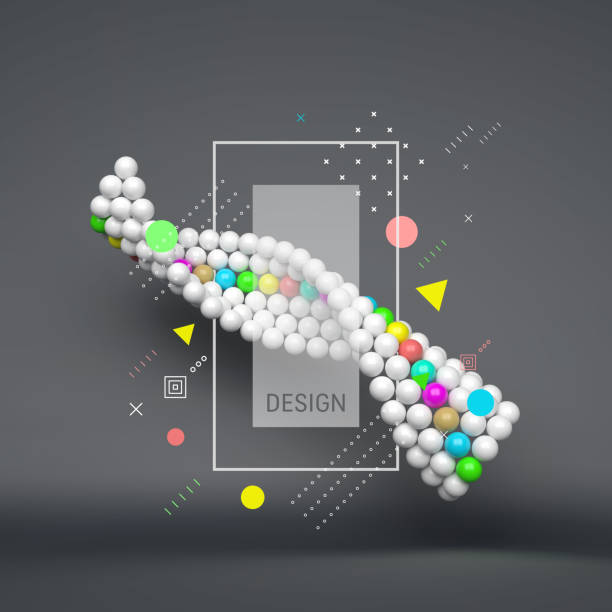 Spiral. 3d abstract spheres composition. Futuristic technology style. Vector illustration for science, technology, web design, network. Spiral. 3d abstract spheres composition. Futuristic technology style. Vector illustration for science, technology, web design, network. dna test stock illustrations