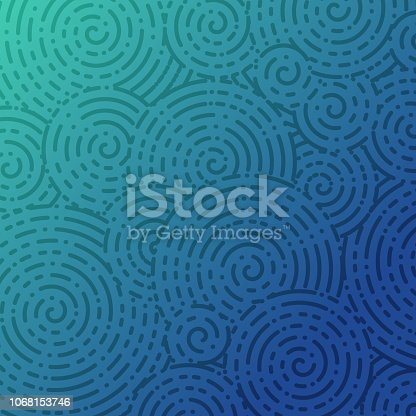 Abstract spiral blue background.