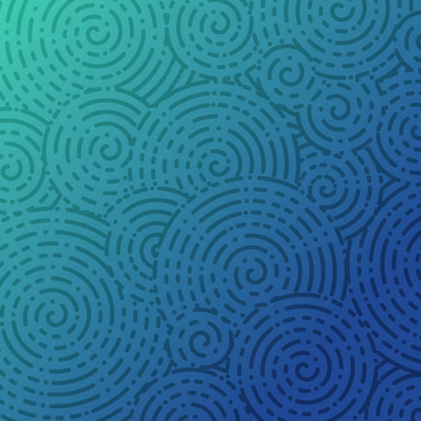 Spiral Abstract Background Abstract spiral blue background. rippled stock illustrations