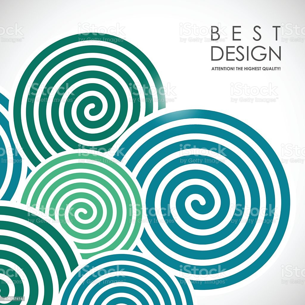 Spiral abstract background vector art illustration