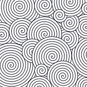 Spiral abstract background pattern.