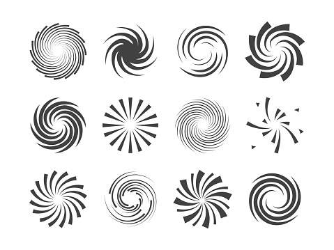 Spiral And Swirl Motion Twisting Circles Design Element ...